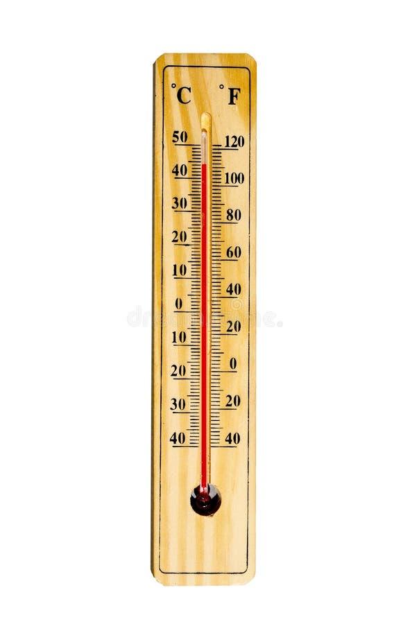 Mercury-Thermometer lokalisiert auf Weiß lizenzfreies stockfoto
