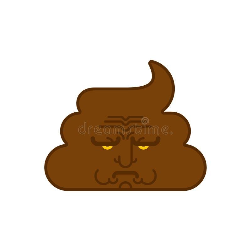 Merda triste turd maçante Ilustração mal-humorada do vetor de Emoji do tombadilho ilustração stock