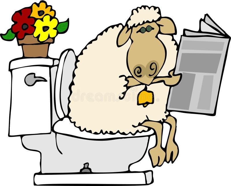 Merde de moutons illustration de vecteur