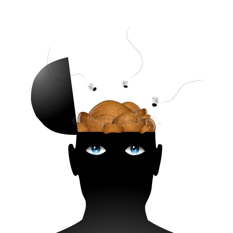 Merde pour des cerveaux illustration de vecteur