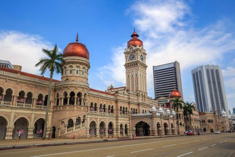 Merdeka fyrkant i i stadens centrum Kuala Lumpur royaltyfri fotografi