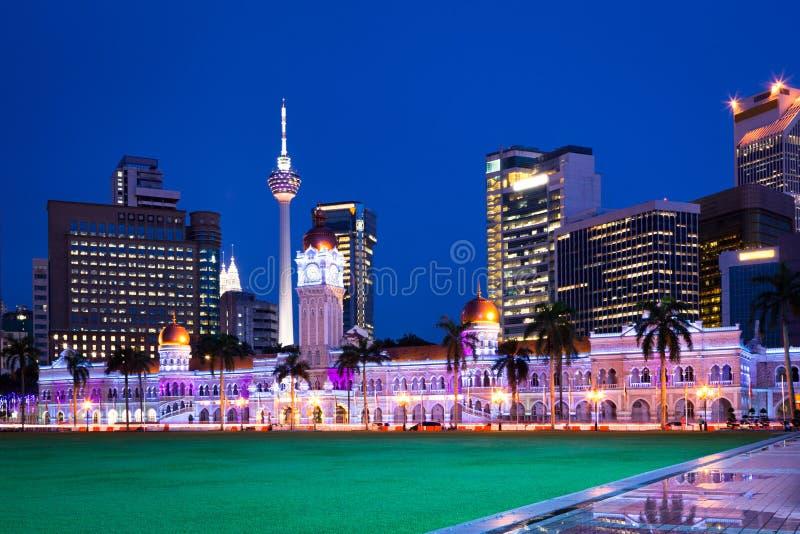 Merdeka Square at night, Kuala Lumpur, Malaysia royalty free stock photography