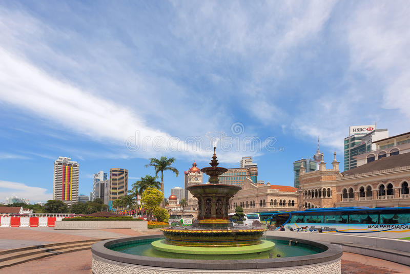Merdeka SSquare en Kuala Lumpur fotografía de archivo libre de regalías