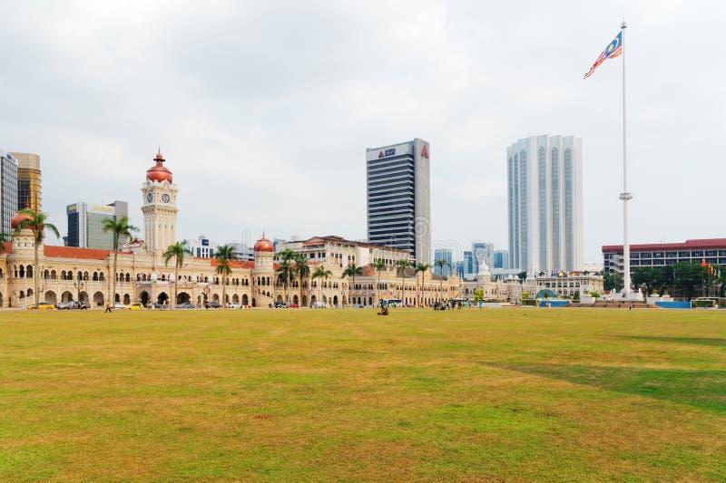 Merdekavierkant, Kuala Lumpur, Maleisië royalty-vrije stock afbeeldingen