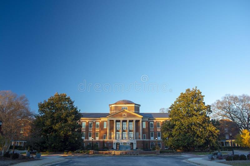 Meredith College dans Raleigh, la Caroline du Nord photo libre de droits
