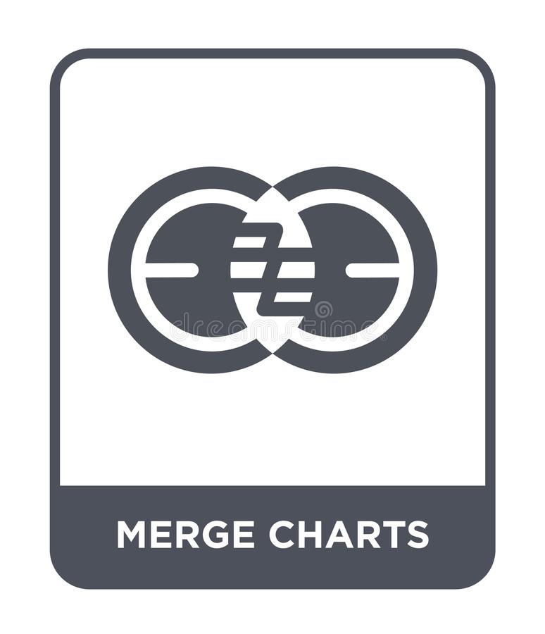 merge charts icon in trendy design style. merge charts icon isolated on white background. merge charts vector icon simple and vector illustration
