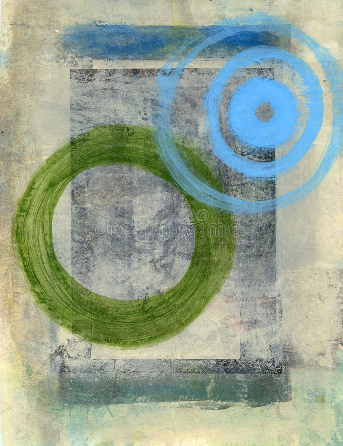 Free Merge Circles Abstract Painting Royalty Free Stock Photo - 891275