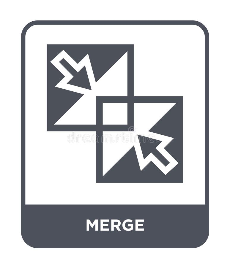 merge icon in trendy design style. merge icon isolated on white background. merge vector icon simple and modern flat symbol for vector illustration