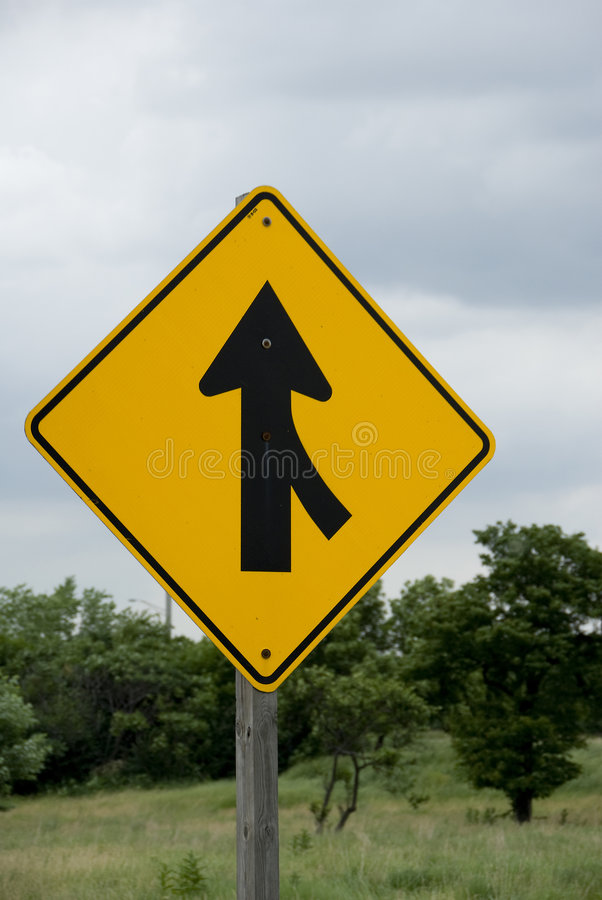 Merge Sign Stock Photography