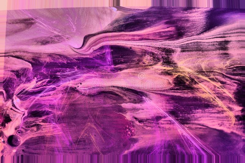 Merged into abstract. 2 dabs of paint photographed and then merged on a computer royalty free illustration