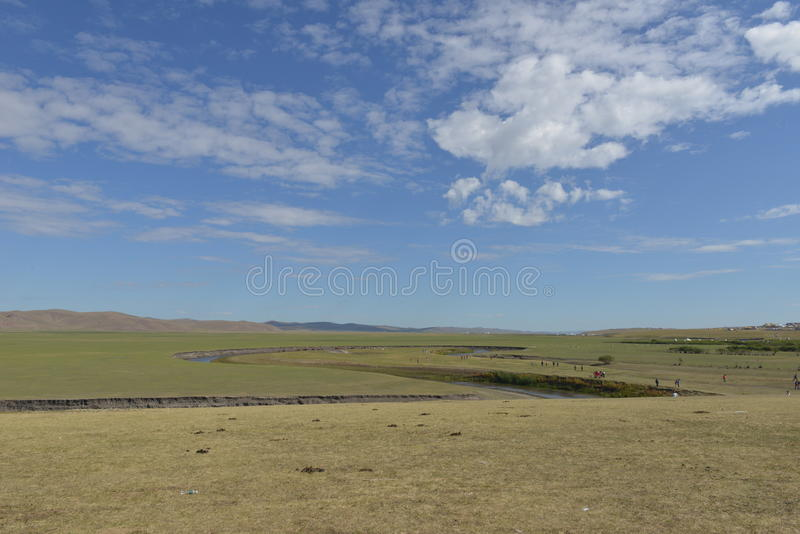 Mergel River in Hulun Buir Grassland royalty free stock photography