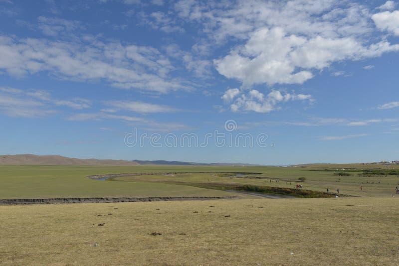 Mergelrivier in de Weide van Hulun Buir royalty-vrije stock fotografie