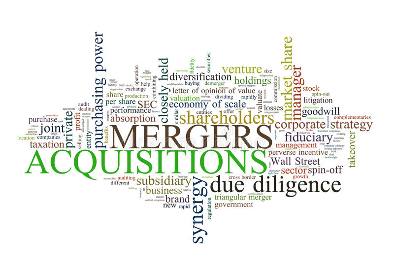 Mergers and Acquisitions stock illustration