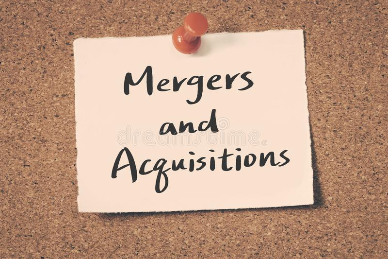 Mergers and Acquisitions stock photos
