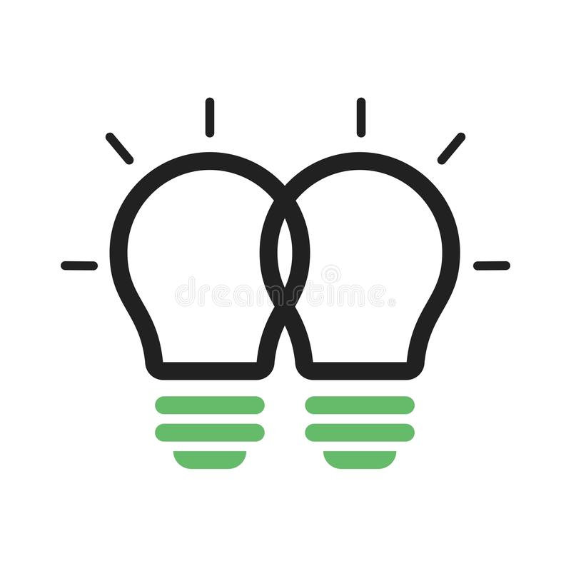 Merging Ideas. Merging, cooperation, ideas icon vector image. Can also be used for software development. Suitable for use on web apps, mobile apps and print vector illustration
