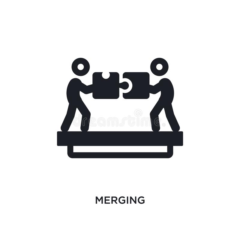 merging isolated icon. simple element illustration from political concept icons. merging editable logo sign symbol design on white vector illustration