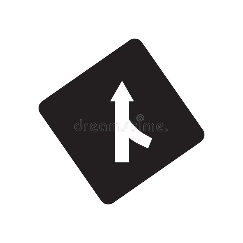 Merging sign icon. Trendy Merging sign logo concept on white background from Traffic Signs collection stock illustration