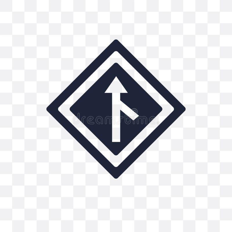 Merging sign transparent icon. Merging sign symbol design from T vector illustration