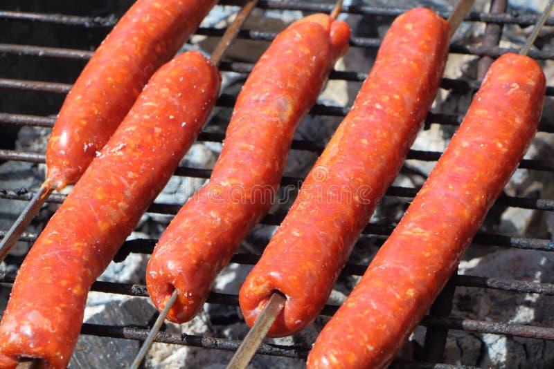 Merguez на барбекю стоковое фото rf