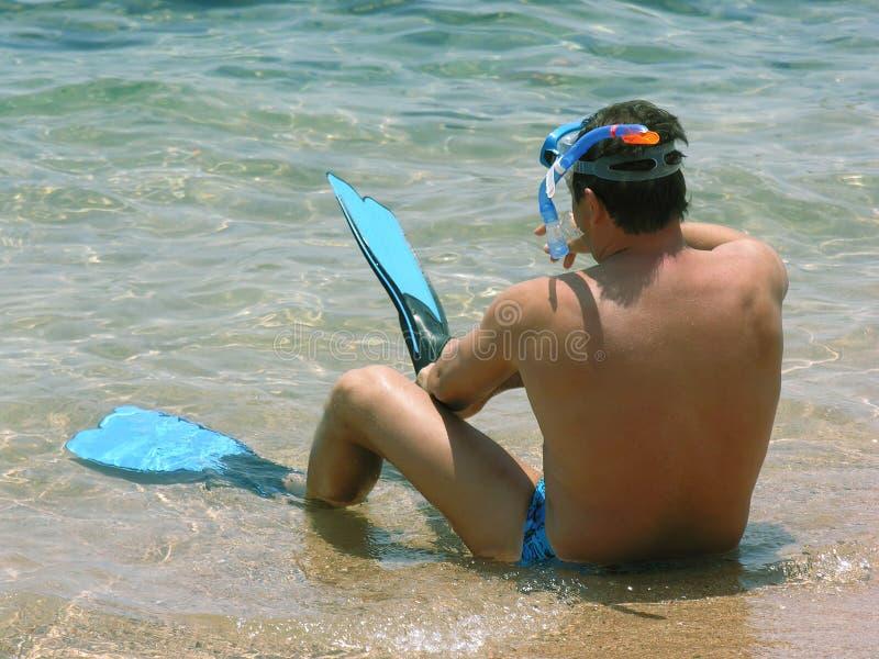 Mergulhador imagem de stock