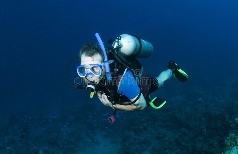 Mergulhador de mergulhador masculino fotografia de stock royalty free