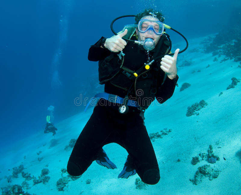 Mergulhador do mergulhador fotografia de stock royalty free