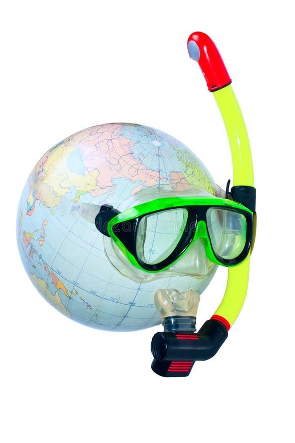 Mergulhador do planeta imagens de stock