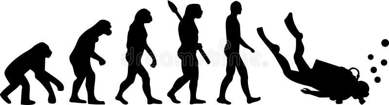Mergulhador Evolution ilustração stock