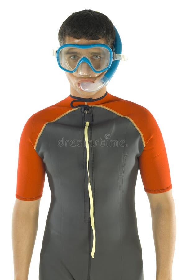 Mergulhador novo imagens de stock