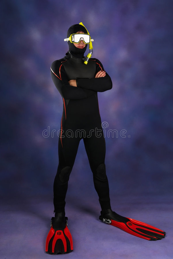 Mergulhador subaquático fotografia de stock royalty free