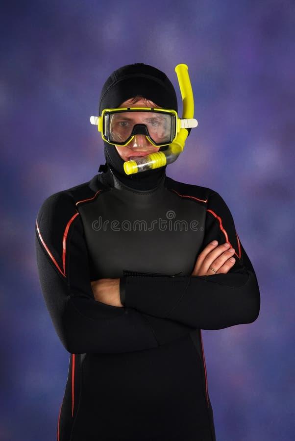 Mergulhador subaquático fotos de stock