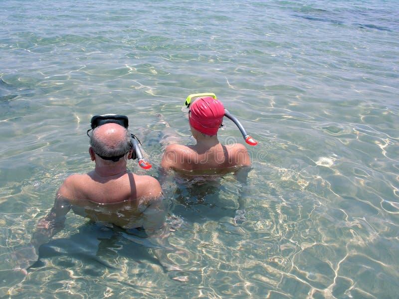Mergulhadores foto de stock royalty free