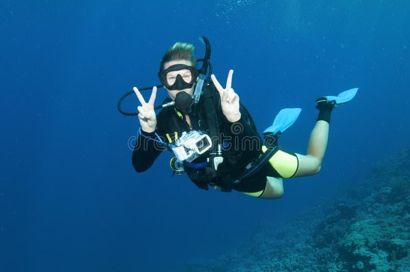 Mergulhadores do mergulhador imagens de stock