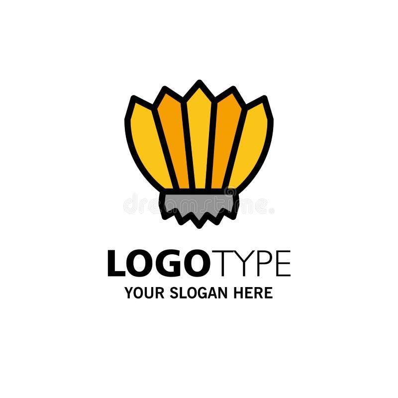 Mergulho, aletas, aletas, oceano, negócio exterior Logo Template cor lisa ilustração stock