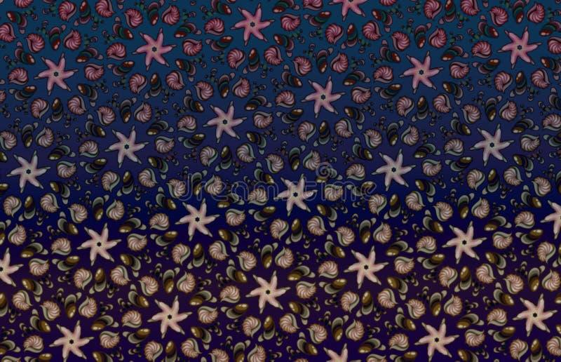 Mergulho brilhante escuro do fundo do mar do mosaico imagem de stock royalty free