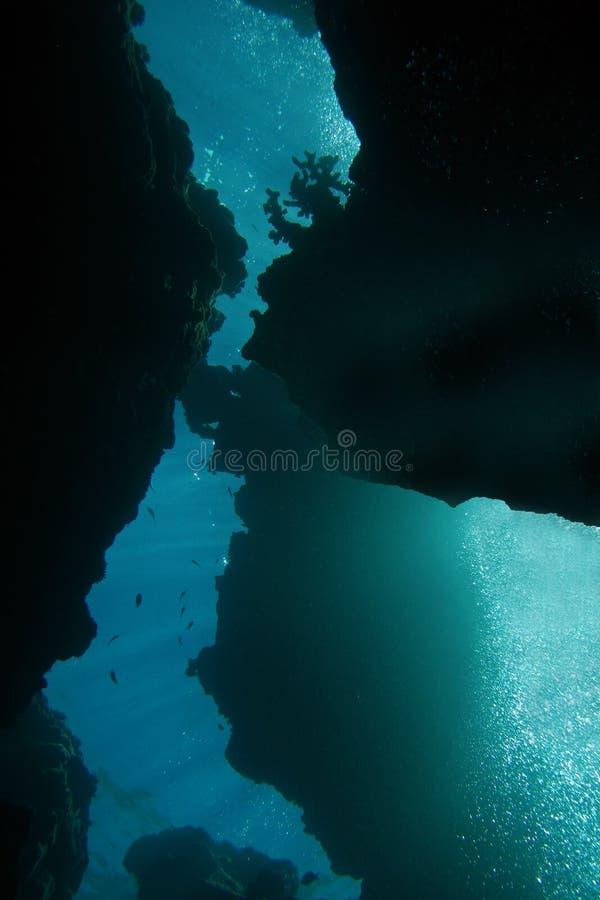 Mergulho extremo no abismo imagem de stock