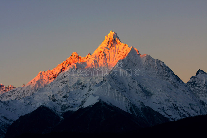 Meri snow mountain. Is beautiful at sunrise stock photography