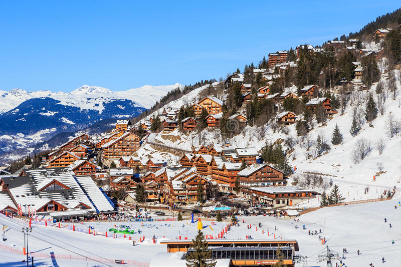 Meribel Ski Resort Meribel Village Center 1450 M Editorial