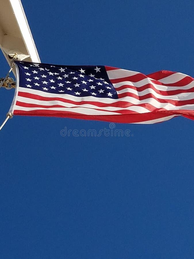 Merica. Flag america blue sky star spangled banner royalty free stock images