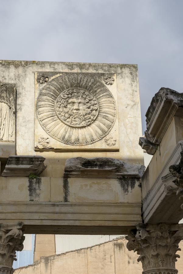 Temple of Diana. Despite its name, wrongly assigned in its discovery, the building was royalty free stock photos