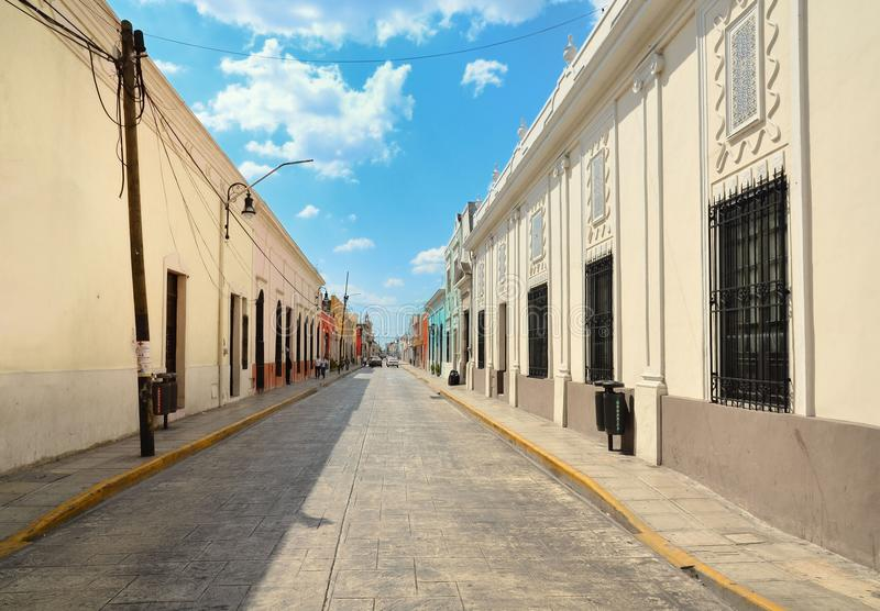 Merida City in Mexico colonial architecture royalty free stock photos
