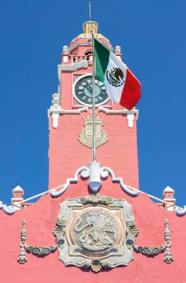 Merida di costruzione coloniale, Messico fotografie stock