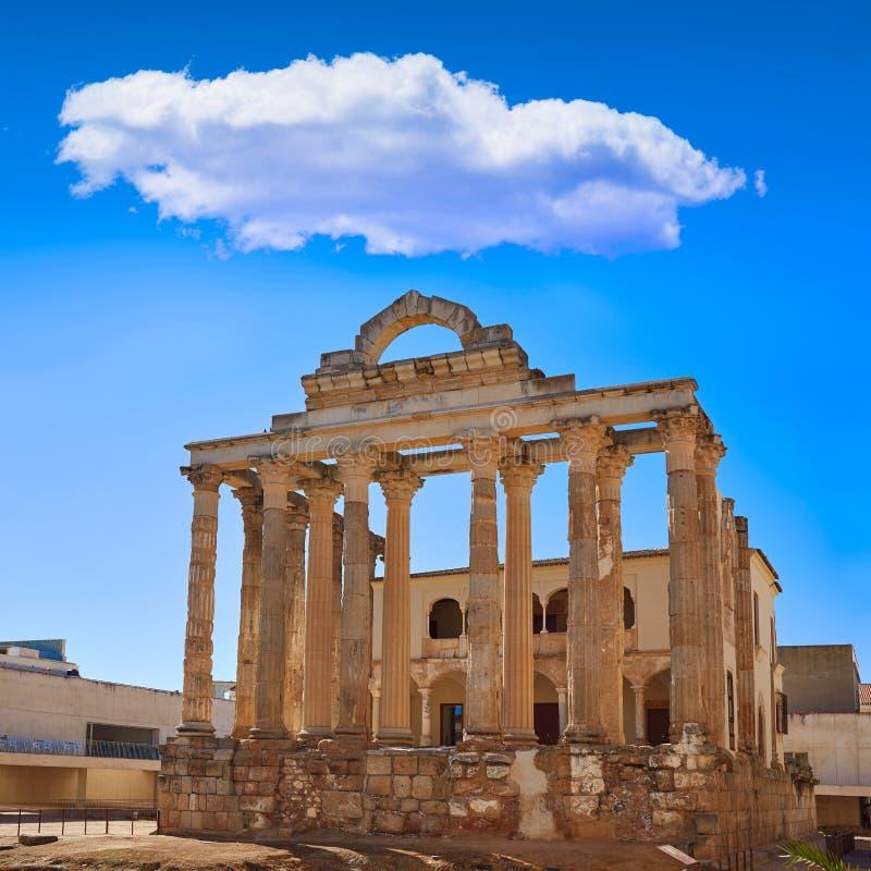 Merida Diana Temple in Badajoz Spanje royalty-vrije stock afbeelding