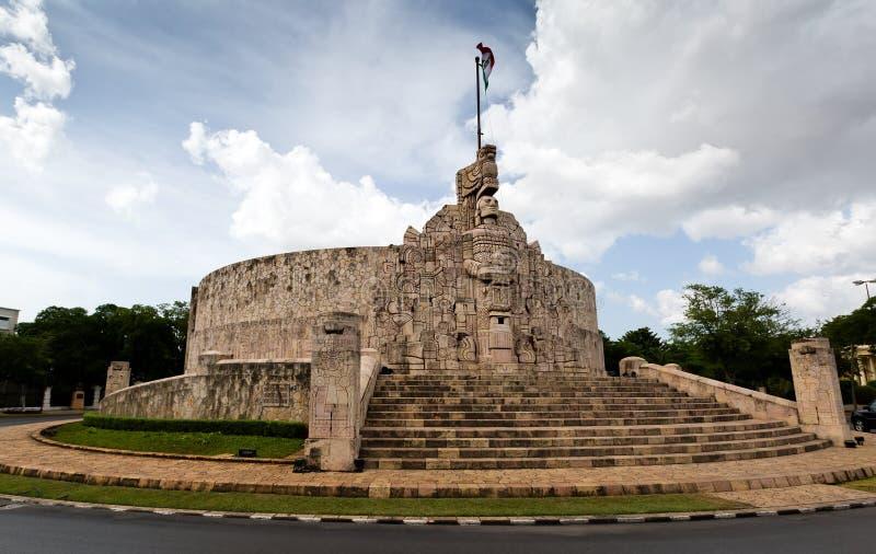 Merida Monument till fäderneslandet, Yucatan, Mexico Patria Monu arkivbild