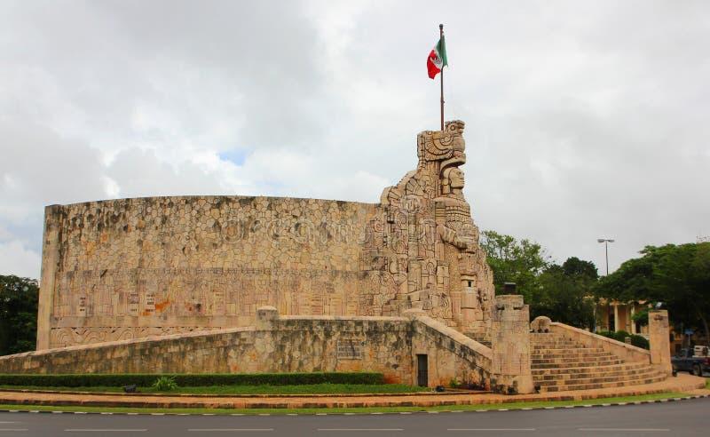 Merida. Monumento à pátria, México imagens de stock royalty free