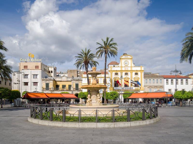Merida Town Centre Extremadura Spain fotografia stock
