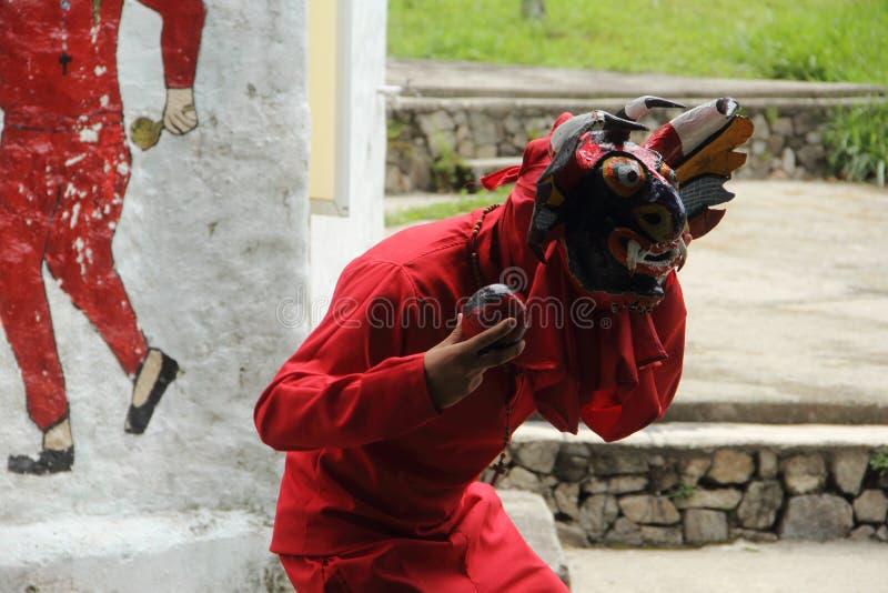 Diablos de Yare. Merida, Venezuela - April 6, 2017: Representation of diablo de yare by an artist at Venezuela de Antier Park royalty free stock photography