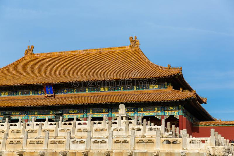 The Meridian Gate. Forbidden City. Beijing, China. royalty free stock image