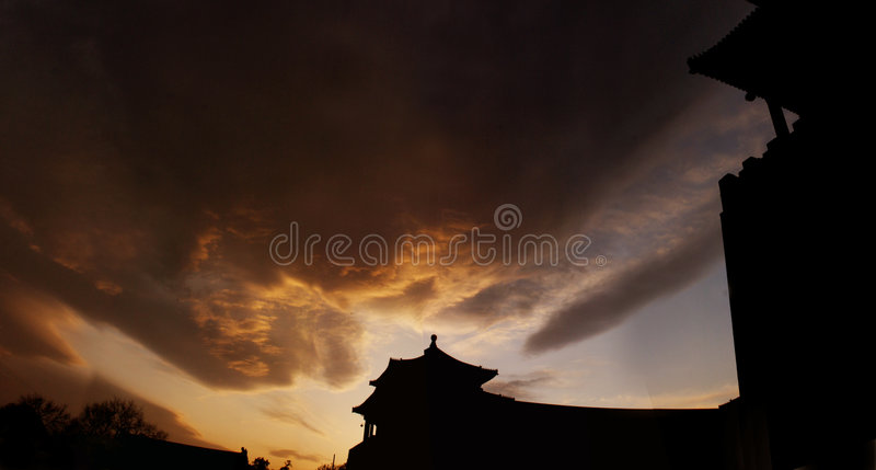 Meridian Gate Forbidden city royalty free stock image