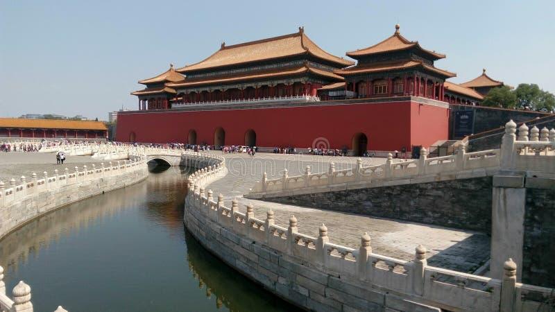 Meridian gate, forbidden city, Beijing royalty free stock photo